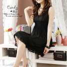 Feminime black party dress