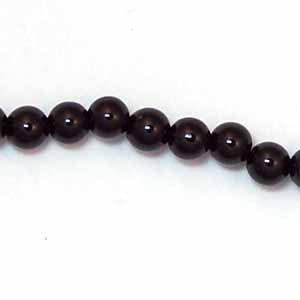 Black Onyx 4mm Round Beads (GE4)