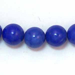 Howlite Lapis Lazuli Color 8mm Round Beads (GE39)