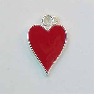 Heart Card Suit Charm (PC498)