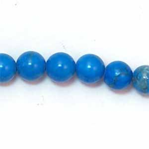 Howlite Turquoise Color 6mm Round Beads (GE43)