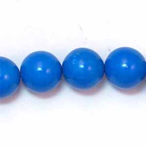 Howlite Turquoise 10mm Round Beads (GE45)