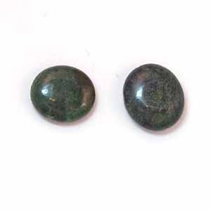 African Jade 16x14mm Flat Oval Beads (GE53)