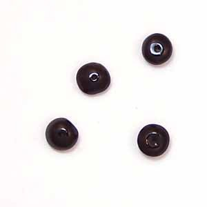 Black Onyx 5mm Rondelle Beads (GE87)