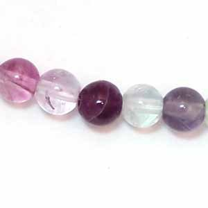 Rainbow Fluorite 6mm Round Beads (GE1098)