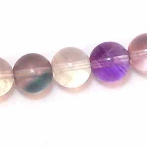 Rainbow Fluorite 8mm Round Beads (GE1099)