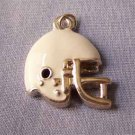 White Football Helmet Sports Charm (PC524)