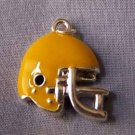 Yellow Football Helmet Sports Charm (PC525)