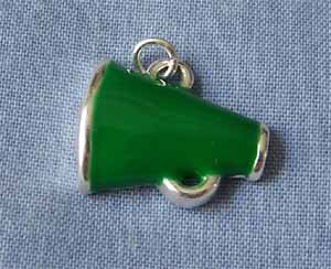 Green Megaphone Sports Charm (PC528)
