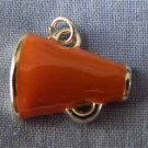 Orange Megaphone Sports Charm (PC530)