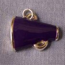 Purple Megaphone Sports Charm (PC531)
