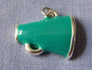 Teal Megaphone Sports Charm (PC533)