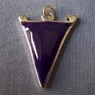 Purple Pennant Sports Charm (PC541)