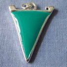 Teal Pennant Sports Charm (PC543)