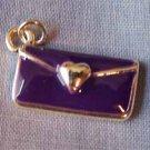 Purple Purse with Heart Charm (PC446)