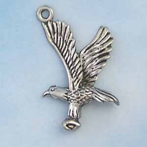 Eagle Pewter Charm - Antique silver (PC415)