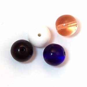 10mm Round Glass Beads - Assorted colors (GL868)