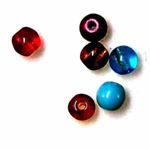 4mm Round Glass Beads - Assorted colors (GL865)