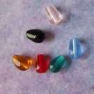 Czech Teardrop Glass Beads 6x9mm Assorted Colors(GL855)
