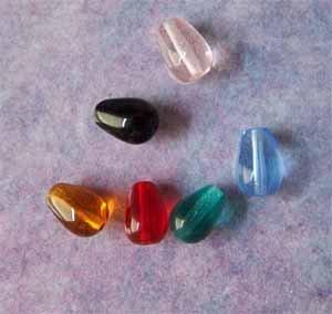 Czech Teardrop Glass Beads 6x9mm Assorted Colors(GL855)