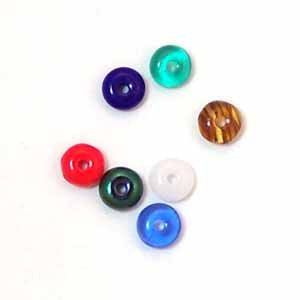 Czech Glass Wafer Beads 4mm Assorted Colors (GL848)