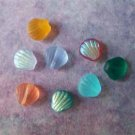 Czech Glass Shell Beads 8mm Assorted Colors (GL860)