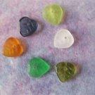Czech Glass Leaf Beads 9x9mm Assorted Colors (GL861)