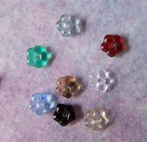 Czech Glass Flower Beads 5x2mm Assorted Colors (GL863)