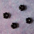 Czech Glass Flower Beads 4mm Black (GL1185)
