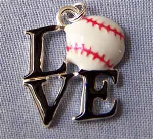 Love Baseball Sports Charm (PC594)
