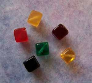 Czech Glass Cube Beads with Rounded Corners 8mm Assorted Colors (GL852)