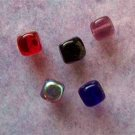 Czech Glass Cube Beads with Rounded Corners 5mm Assorted Colors (GL851)