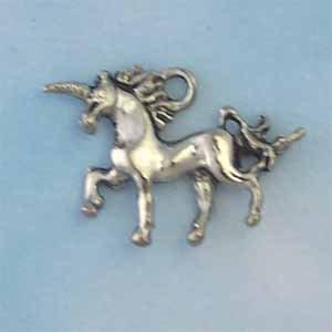 Unicorn Pewter Charm - Antique Silver (PC1281)