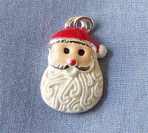 Santa Face with a Curly Beard Charm (PC564)