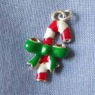 Candy Cane with Green Bow Charm (PC570)