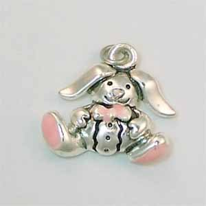Bunny Small Silver Charm (PC476)