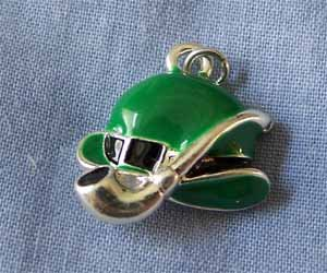 Green Derby Hat with Pipe Charm (PC557)