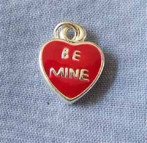 Be Mine Red Heart Charm (PC596)