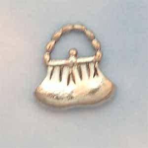 Purse Pewter Charm - Antique Silver (PC331)