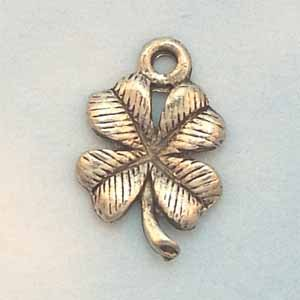 Leaf Pewter Charm - Antique Silver (PC427)