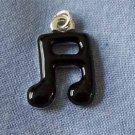 Black Musical Note Mini Charm (PC514)