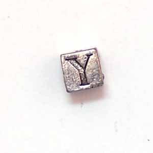 Alphabet Metal Bead - Y (ME631-Y)