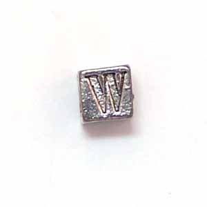 Alphabet Metal Bead - W (ME631-W)