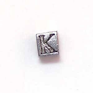 Alphabet Metal Bead - K (ME631-K)