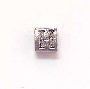 Alphabet Metal Bead - H (ME631-H)