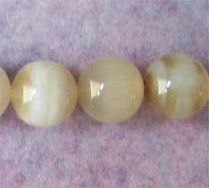 White Striped Sardonyx 8mm Round Beads (GE1267)