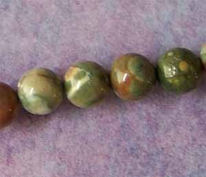 Rhyolite 6mm Round Beads (GE1271)