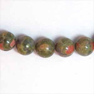 Unakite 8mm Round Beads (GE1269)