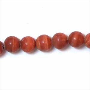 Red Milachite 6mm Round Beads (GE1126)
