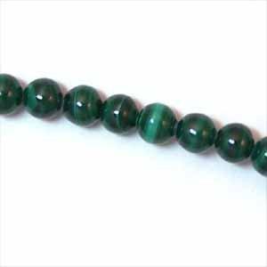 Green Milachite 4mm Round Beads (GE1123)